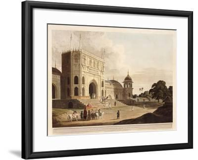 Gate of a Mosque Built by Hafiz Ramut, Pillibeat, 1825-1826-Thomas & William Daniell-Framed Giclee Print