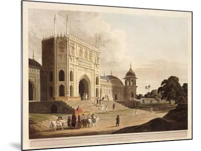 Gate of a Mosque Built by Hafiz Ramut, Pillibeat, 1825-1826-Thomas & William Daniell-Mounted Giclee Print