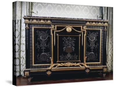 Ebony Commode with Metal Inlays-Andre-charles Boulle-Stretched Canvas Print