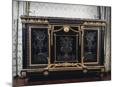 Ebony Commode with Metal Inlays-Andre-charles Boulle-Mounted Giclee Print