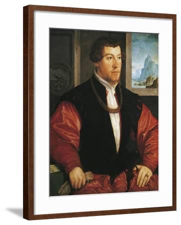 Portrait of Christoph Baumgartner-Christoph Amberger-Framed Giclee Print