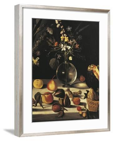 Still Life with Flowers and Fruit-Caravaggio-Framed Giclee Print