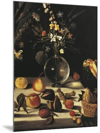 Still Life with Flowers and Fruit-Caravaggio-Mounted Giclee Print