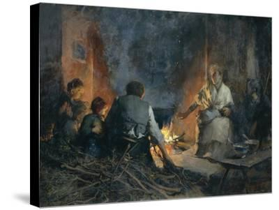 Hospitality in Mountains, 1897-Vittorio Cavalleri-Stretched Canvas Print