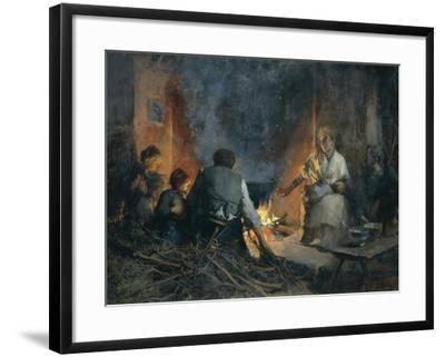 Hospitality in Mountains, 1897-Vittorio Cavalleri-Framed Giclee Print