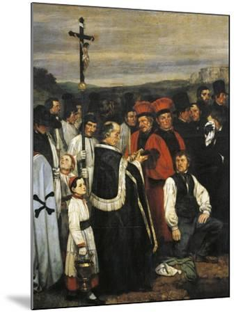 A Burial at Ornans, 1849-1850-Gustave Courbet-Mounted Giclee Print