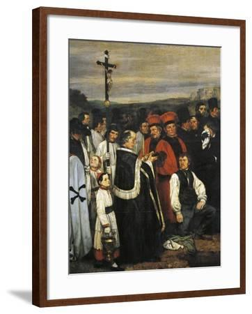 A Burial at Ornans, 1849-1850-Gustave Courbet-Framed Giclee Print