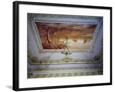 Stucco Decoration and Romagna Landscape-Giuseppe Brega-Framed Giclee Print