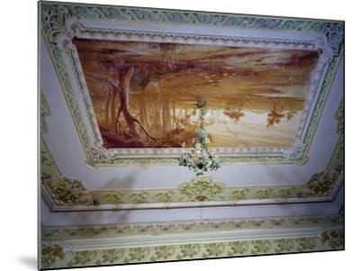 Stucco Decoration and Romagna Landscape-Giuseppe Brega-Mounted Giclee Print