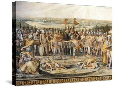 Combat Between Horatii and Curiatii-Giuseppe Cesari-Stretched Canvas Print