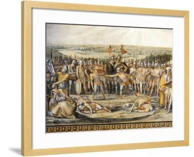 Combat Between Horatii and Curiatii-Giuseppe Cesari-Framed Giclee Print