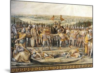 Combat Between Horatii and Curiatii-Giuseppe Cesari-Mounted Giclee Print