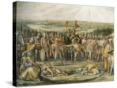 Combat Between the Horatii and Curiatii-Giuseppe Cesari-Stretched Canvas Print