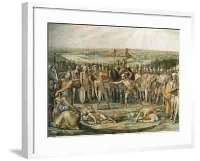 Combat Between the Horatii and Curiatii-Giuseppe Cesari-Framed Giclee Print
