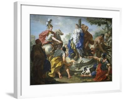 Olynthus and Sophronia-Giovanno Battista Pittoni-Framed Giclee Print