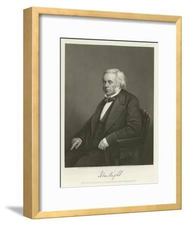 John Bright, British Radical and Liberal Politician-Alonzo Chappel-Framed Giclee Print