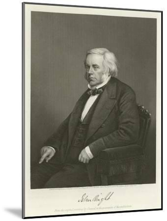 John Bright, British Radical and Liberal Politician-Alonzo Chappel-Mounted Giclee Print
