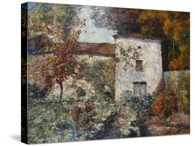 House and Orchard in the Autumn; Maison Et Verger a L'Automne-Victor Charreton-Stretched Canvas Print