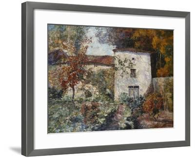 House and Orchard in the Autumn; Maison Et Verger a L'Automne-Victor Charreton-Framed Giclee Print