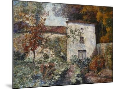 House and Orchard in the Autumn; Maison Et Verger a L'Automne-Victor Charreton-Mounted Giclee Print