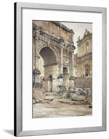 The Arch of Septimius Severus in Rome-Luigi Bazzani-Framed Giclee Print