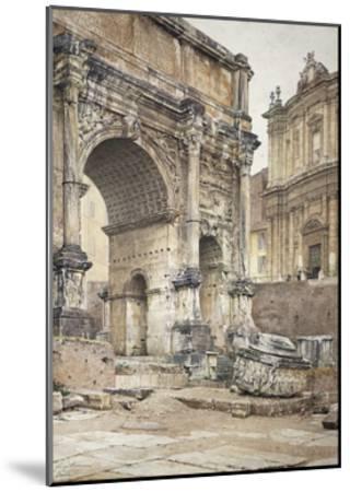 The Arch of Septimius Severus in Rome-Luigi Bazzani-Mounted Giclee Print
