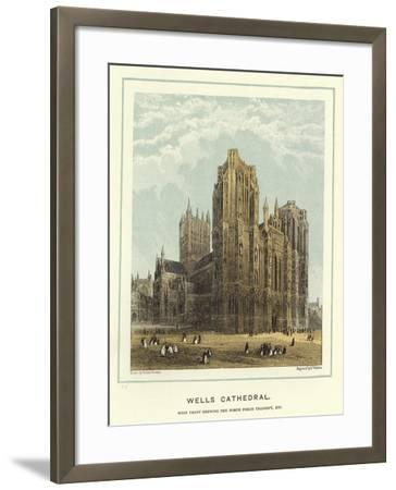 Wells Cathedral, West Front Showing the North Porch Transept, Etc-Hablot Knight Browne-Framed Giclee Print
