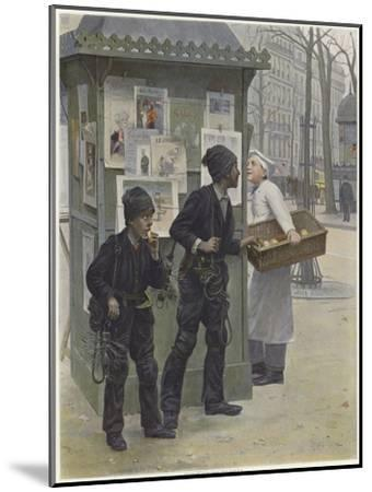Two Young Chimney Sweeps Stealing Cakes from a Baker's Basket-Paul Charles Chocarne-moreau-Mounted Giclee Print