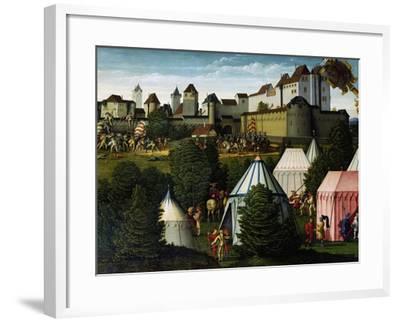 Military Camp, Detail from Story of David, 1534-Hans Sebald Beham-Framed Giclee Print