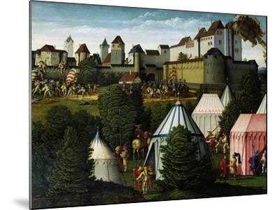 Military Camp, Detail from Story of David, 1534-Hans Sebald Beham-Mounted Giclee Print