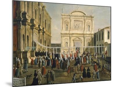Doge and Lords in Church of San Rocco on Holy Day-Gabriel Bella-Mounted Giclee Print