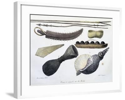 Weapons and Tools of Radak Islands, Marshall Islands-Louis Choris-Framed Giclee Print