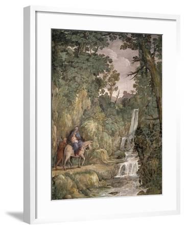 Flight into Egypt, 1621-1630-Pietro da Cortona-Framed Giclee Print