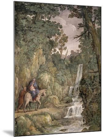 Flight into Egypt, 1621-1630-Pietro da Cortona-Mounted Giclee Print