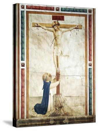 St Dominic Adoring Crucifix-Giovanni Da Fiesole-Stretched Canvas Print
