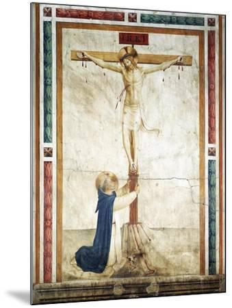St Dominic Adoring Crucifix-Giovanni Da Fiesole-Mounted Giclee Print