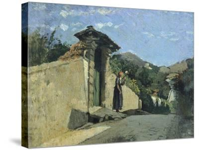 Study of Landscape, About 1860-Cristiano Banti-Stretched Canvas Print