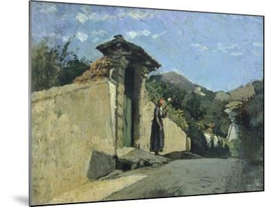 Study of Landscape, About 1860-Cristiano Banti-Mounted Giclee Print