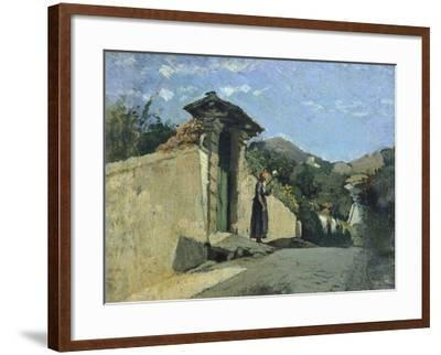 Study of Landscape, About 1860-Cristiano Banti-Framed Giclee Print