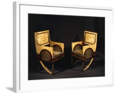 Art Nouveau Style Armchairs, Ca 1902-Carlo Bugatti-Framed Giclee Print