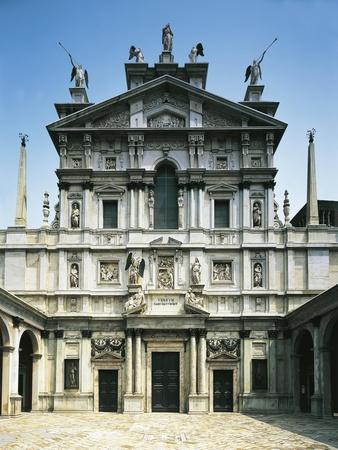 Facade of Church of Santa Maria Presso San Celso-Galeazzo Alessi-Framed Giclee Print