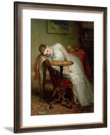 Hope Deferred, and Hopes and Fears That Kindle Hope, before 1877-Charles West Cope-Framed Giclee Print