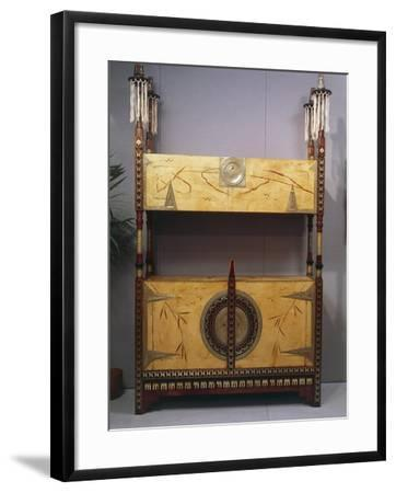 Art Nouveau Style Two Tier Piece of Furniture, 1902-Carlo Bugatti-Framed Giclee Print