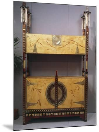 Art Nouveau Style Two Tier Piece of Furniture, 1902-Carlo Bugatti-Mounted Giclee Print