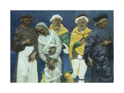 Bury Dead, Scene from Seven Works of Mercy-Santi Buglioni-Framed Giclee Print