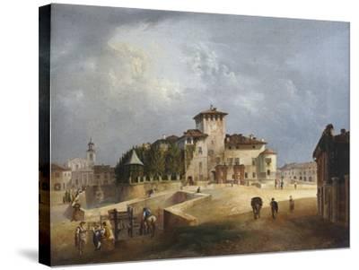 The Fortress of San Vitale in Fontanellato-Giuseppe Alinovi-Stretched Canvas Print