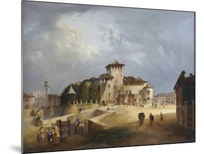 The Fortress of San Vitale in Fontanellato-Giuseppe Alinovi-Mounted Giclee Print