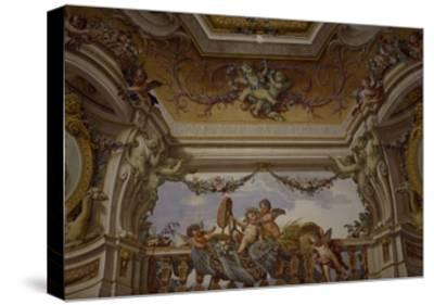 Putti Playing, Detail of Frescoed Ceiling-Fedele Fischetti-Stretched Canvas Print