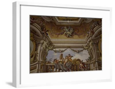 Putti Playing, Detail of Frescoed Ceiling-Fedele Fischetti-Framed Giclee Print
