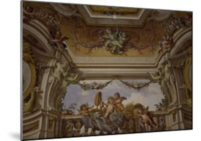 Putti Playing, Detail of Frescoed Ceiling-Fedele Fischetti-Mounted Giclee Print